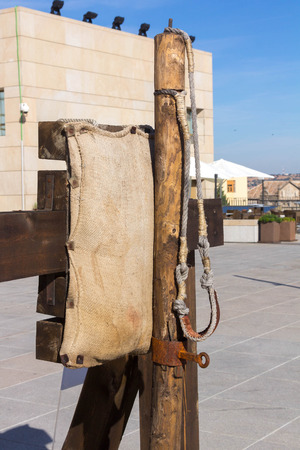 ancient catapult around the XV century photo