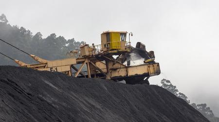huge excavator of coal in a mine photo