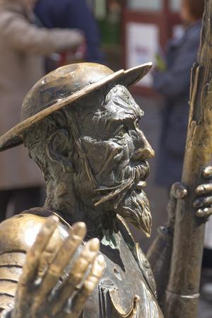 rodin: sculpture of don Quixote of la mancha in bronze