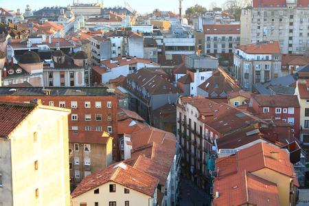 santander: old houses in the city of Santander in Spain