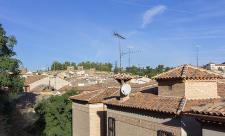 toledo town: General view of the famous town of Toledo, Spain Stock Photo