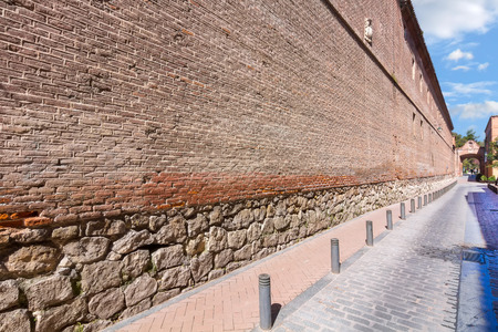 perspective wall of the archbishopric of Alcala de Henares, Spain