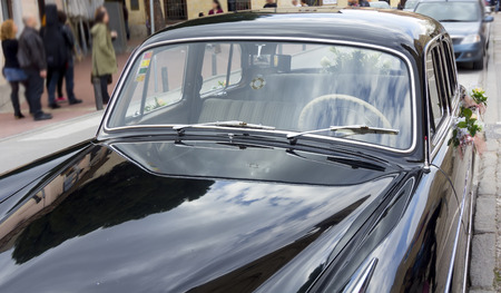 coherent: elegant old black car season coherent