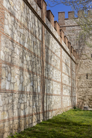 isabel: Walls of the Archbishop Palace Alcala de Henares, Spain