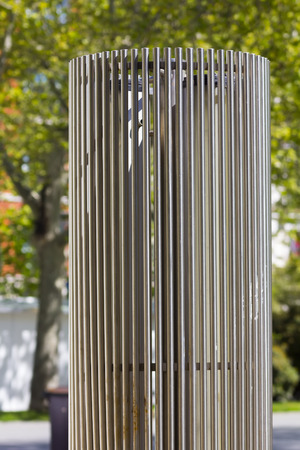 rodin: modern sculpture in steel cylindrical