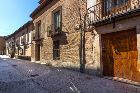 typical house in the historic town of Alcala de Henares, Spain