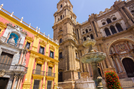 episcopal: Cathedral Square and the episcopal palace in Malaga, Spain