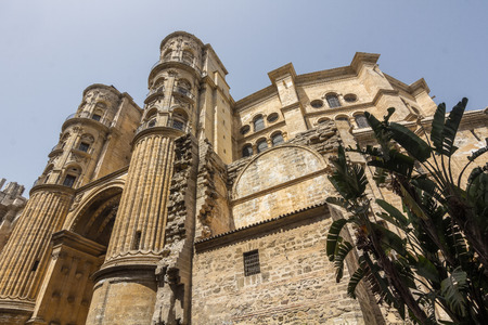 incarnation: Cathedral of the Incarnation in Malaga, Spain