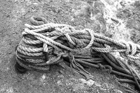 mooring ropes fishing boats photo