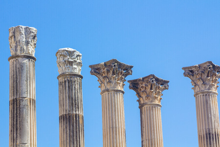 Roman columns of the second century before Christ in Cordoba, Spain Stock Photo