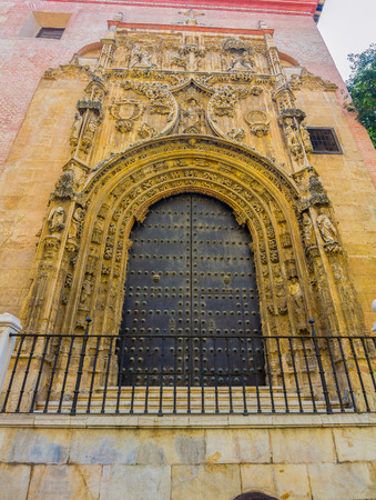 incarnation: entrance to the Cathedral of the Incarnation in Malaga, Spain