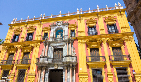 episcopal: episcopal palace in the city of Malaga, Spain