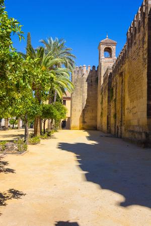 alcazar: Walls and gardens of the Alcazar de Cordoba, Spain