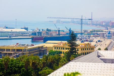 loading dock: Loading Dock in the city of Malaga, Spain Stock Photo