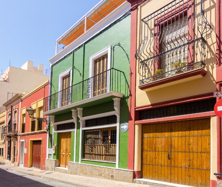 typical: Typical colored houses in Almeria, Spain
