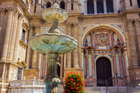 incarnation: Cathedral Square and the episcopal palace in Malaga, Spain