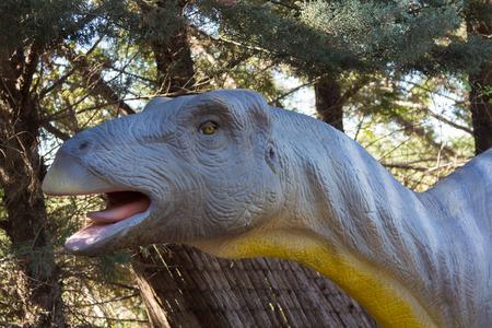 herbivorous: slow herbivorous dinosaur Brachiosaurus Stock Photo