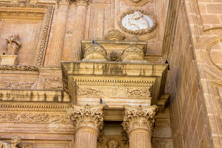 incarnation: Details of the Cathedral of the Incarnation in Almeria Spain