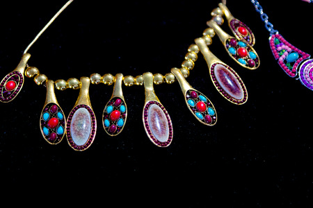 colorful beads: colorful beads and other jewelry like necklaces bracelets