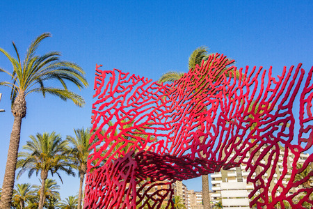 sibelius: abstract sculpture in the park of the city of Almeria, Spain
