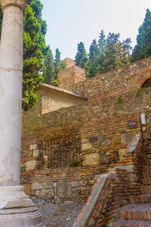 alcazaba: The Alcazaba of Malaga Century X in the Arab period in Malaga Spain