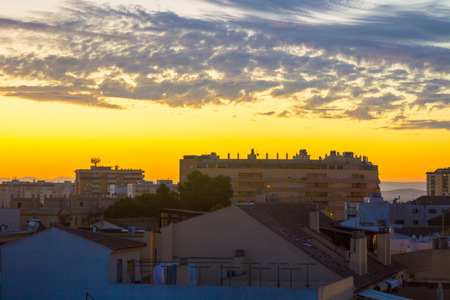 jerez de la frontera: homes in beautiful dawn in the city of Jerez de la frontera Cadiz, Spain