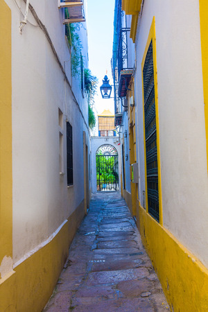 spanish homes: Typical nice clean city streets Cordoba, Spain