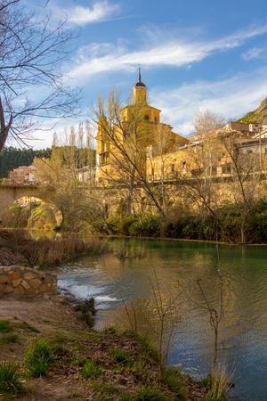 cuenca: Jucar river crossing the city of Cuenca, Spain