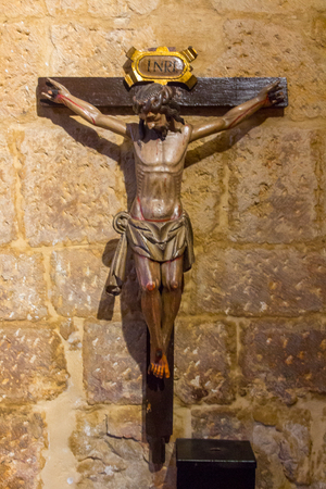 crucified: Christ crucified on the cross