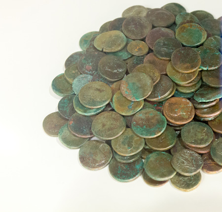 ancient rome: Ancient coins of ancient Rome Stock Photo