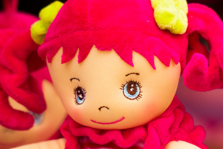 rag doll: rag doll with red hair smiling