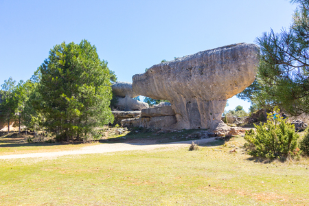 however: Rocks with capricious forms in the enchanted city of Cuenca, Spain Stock Photo