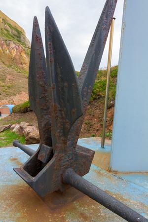 ship anchor: Details anchor of old ship