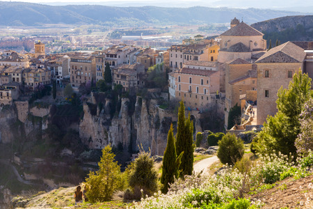 cuenca: General view of the historic city of Cuenca, Spain Stock Photo