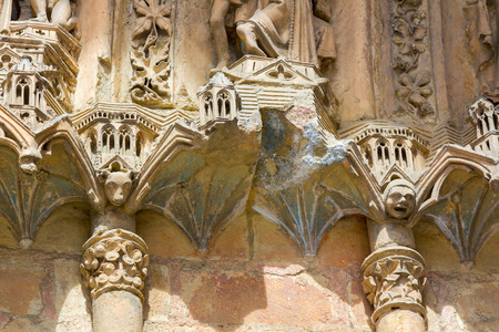 architectural details: Religious architectural details in a church