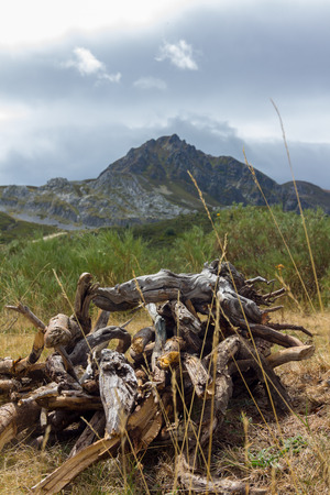 isidro: Landscape from the port of mountain of San Isidro, Asturias, Spain Stock Photo