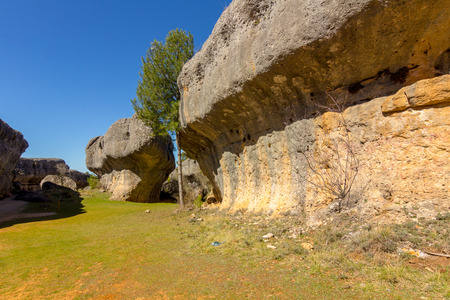 reserve: Rocks with capricious forms in the enchanted city of Cuenca, Spain Stock Photo