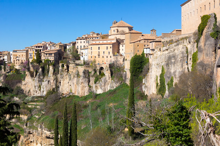 General view of the historic city of Cuenca, Spain Stock Photo