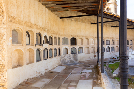 niches: old cemetery with many niches