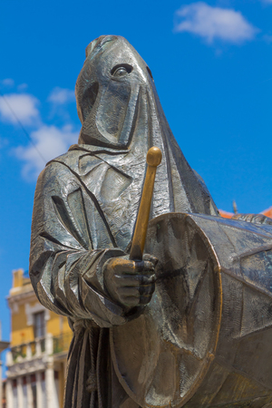 Sculptures homage to Nazarenes in the city of Zamora, Spain Stock Photo