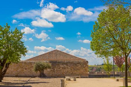 Public park in Zamora, Spain Stock Photo
