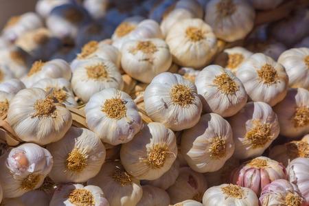 royals: Garlic broth background Stock Photo
