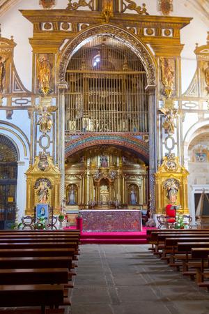 SALAMANCA 10 September 2017: inside of a church Christian in Salamanca Spain