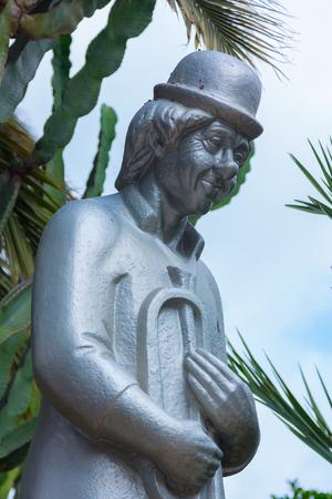Sculpture monument to the clown Fofo Banco de Imagens