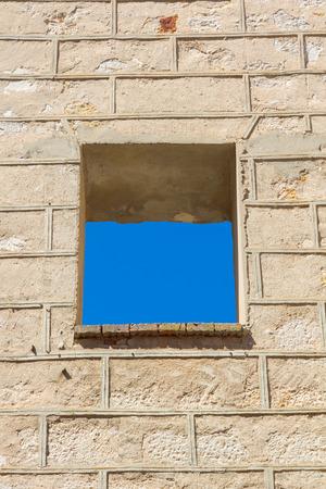 window on modern facade