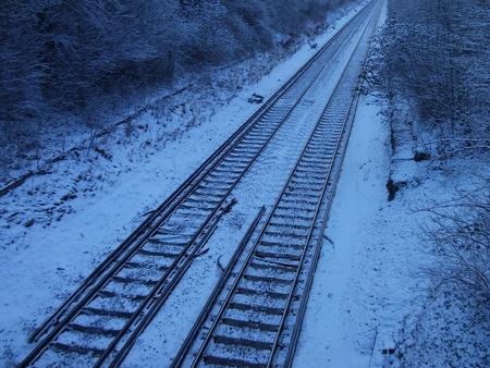 Train Tracks in Snow