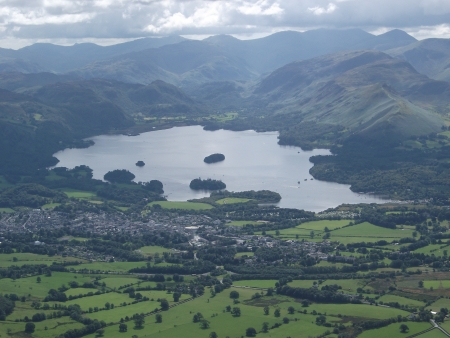 Keswick, Derwentwater and Catbells Stock Photo - 13859101