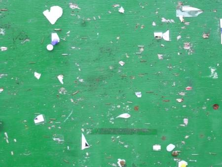 noticeboard: Green Noticeboard Stock Photo