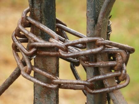 keep gate closed: Chain Locked Gate