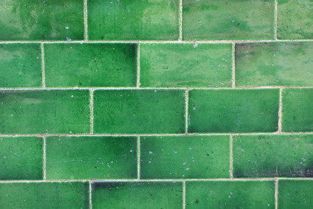 Green Tiled Wall photo